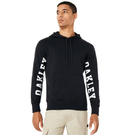 mikina OAKLEY STREET LOGO HOODED FLEECE Blackout