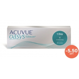 Johnson & Johnson Acuvue Oasys with HydraLuxe 1-Day 30 cocek -5.50