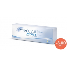 Johnson & Johnson Acuvue 1 Day Moist 30 cocek -3.00