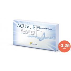 Johnson & Johnson Acuvue Oasys with Hydraclear Plus 6 cocek -3.25