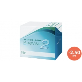 Bausch & Lomb PureVision 2 HD 6 cocek -2,50